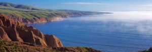 Mist over the ocean at Sellicks Beach on Fleurieu Peninsula